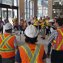 CTBUH Canada Hosts Construction Tour of 88 Scott, Toronto