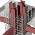 Engineering Properties of Composite Mega-Columns with Separately Encased Hot Rolled Steel Profiles